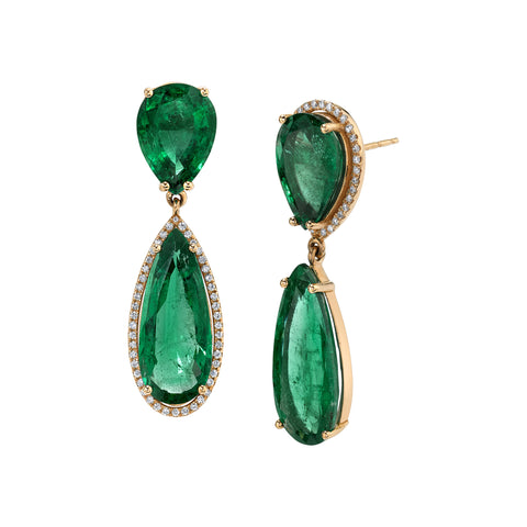 Teardrop Emerald Earrings by Shay for Broken English Jewelry