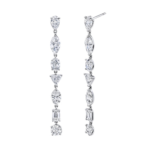 Mixed Diamond Drop Earrings - Shay - Earrings | Broken English Jewelry