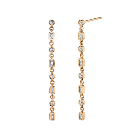 Infinity Diamond Drop Earrings - Shay - Earrings | Broken English Jewelry