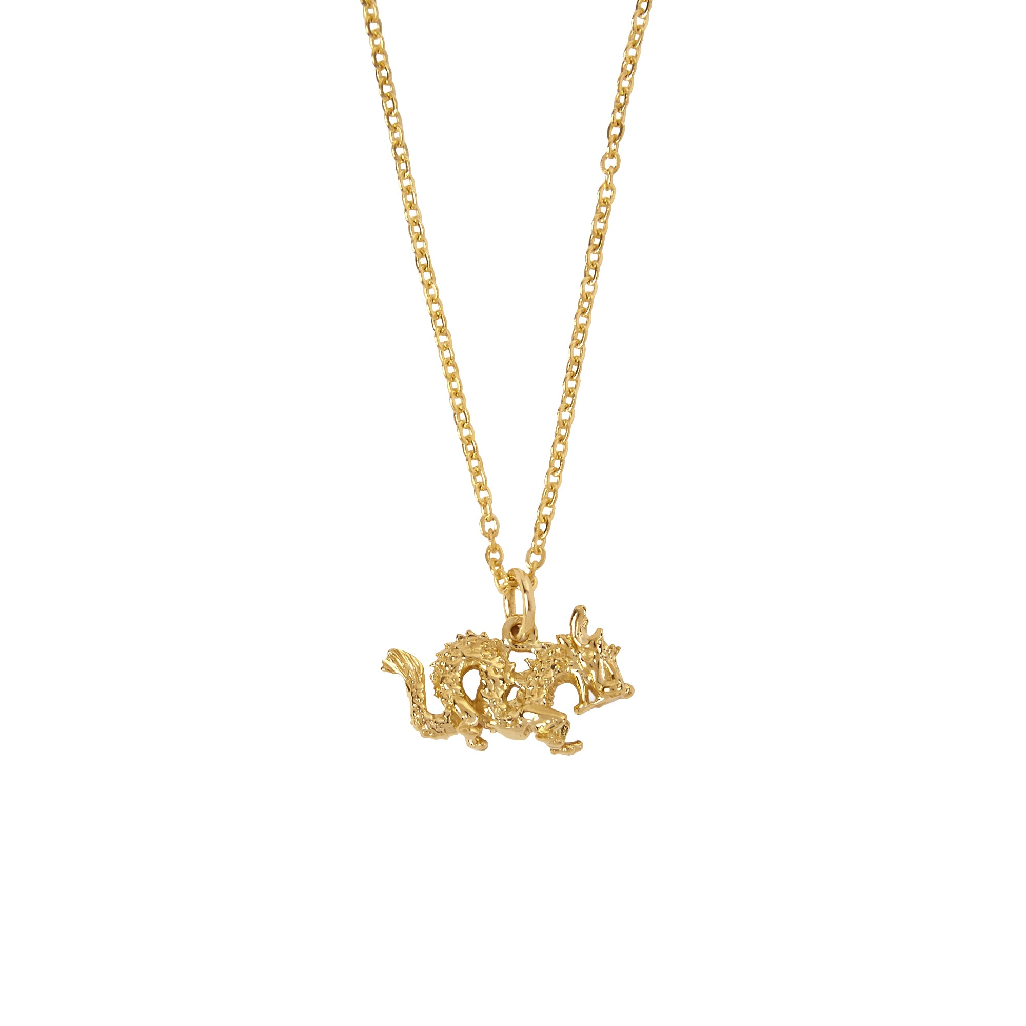 Patcharavipa Tiny Dragon Necklace - Necklaces - Broken English Jewelry