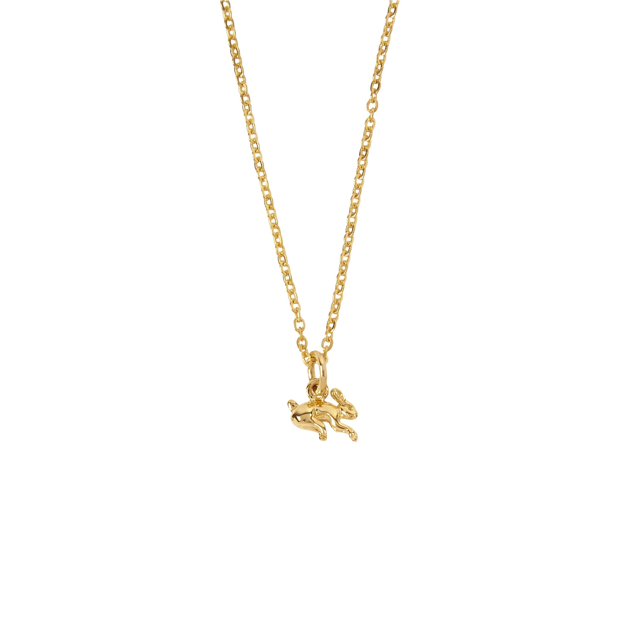 Patcharavipa Tiny Rabbit Necklace - Necklaces - Broken English Jewelry