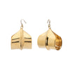 Ariana Boussard-Reifel Meridian Earrings - Large Brass - Earrings - Broken English Jewelry