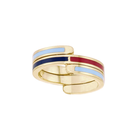 Surf Flip Ring by Tara Hirshberg for Broken English Jewelry