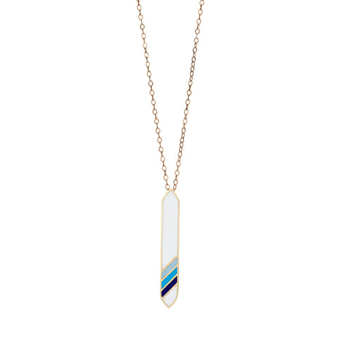 White & Blue Surf Necklace by Tara Hirshberg for Broken English Jewelry