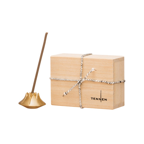 Satin Brass Incense Holder by Tennen for Broken English Jewelry