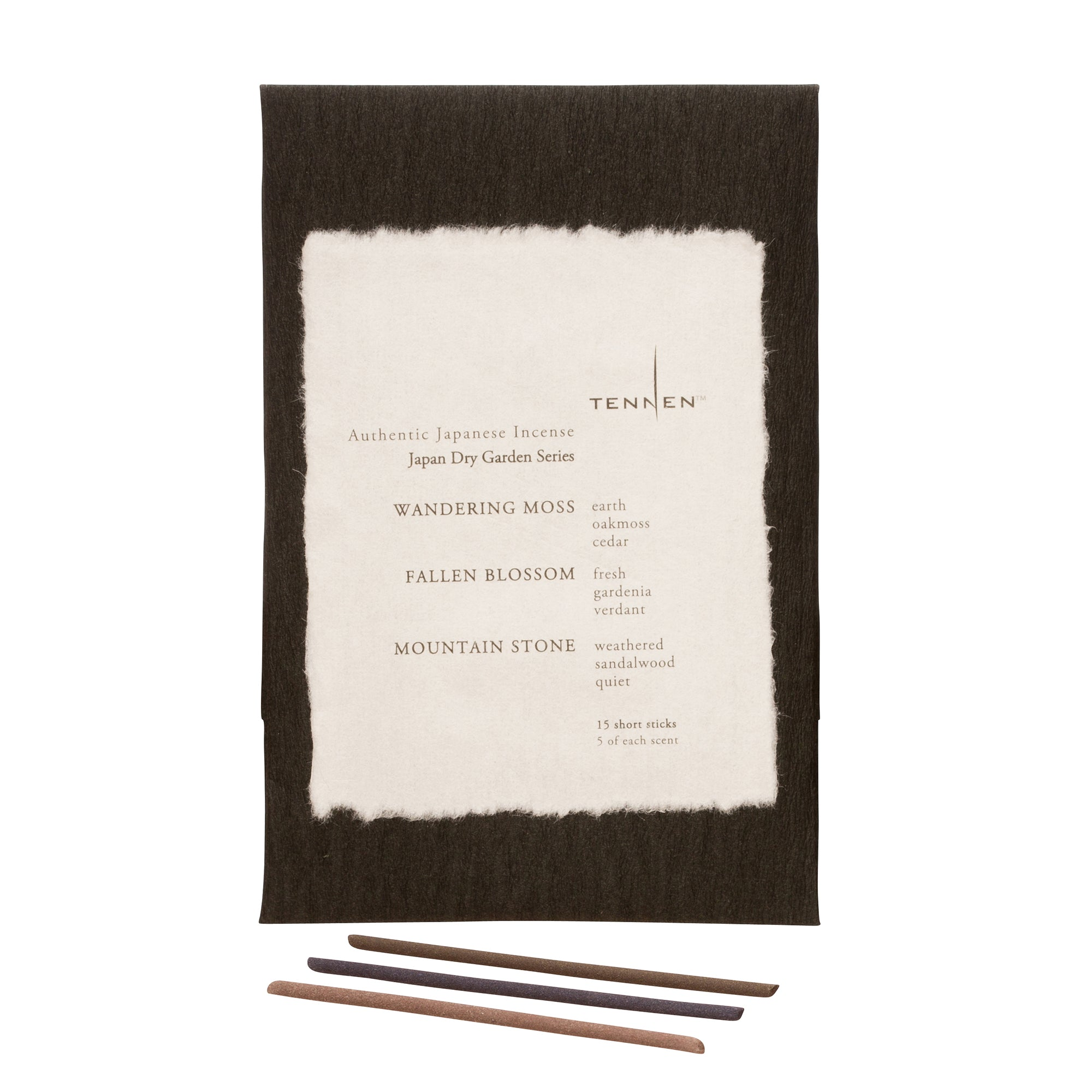 Japan Dry Garden Mixed Incense Pack by Tennen for Broken English Jewelry