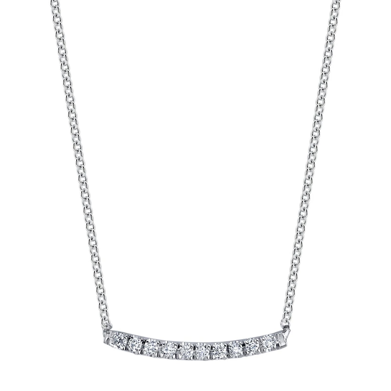 Gabriela Artigas & Company Mini Axis Necklace - White Gold - Necklaces - Broken English Jewelry