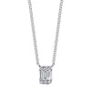 Gabriela Artigas & Company Baguette Diamond Axis Necklace - White Gold - Necklaces - Broken English Jewelry