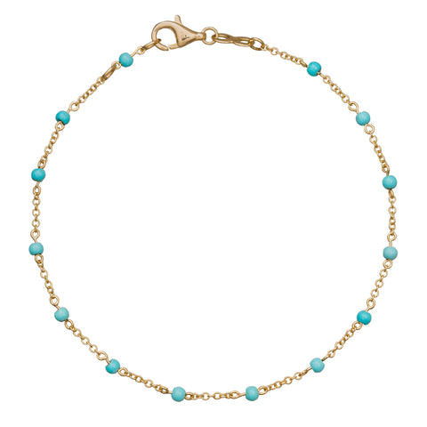 Turquoise Dot Bracelet - Rosa de la Cruz - Bracelets | Broken English Jewelry