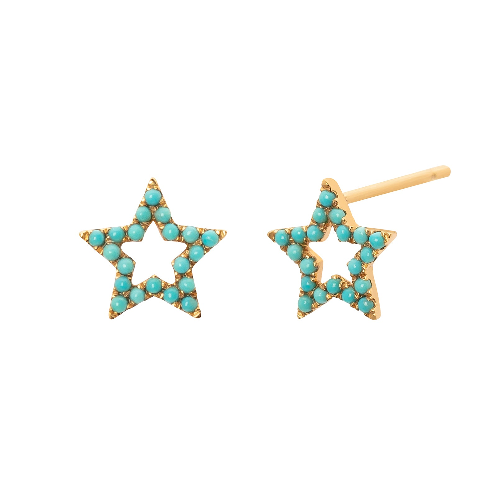 Rosa de la Cruz Star Studs - Turquoise - Earrings - Broken English Jewelry