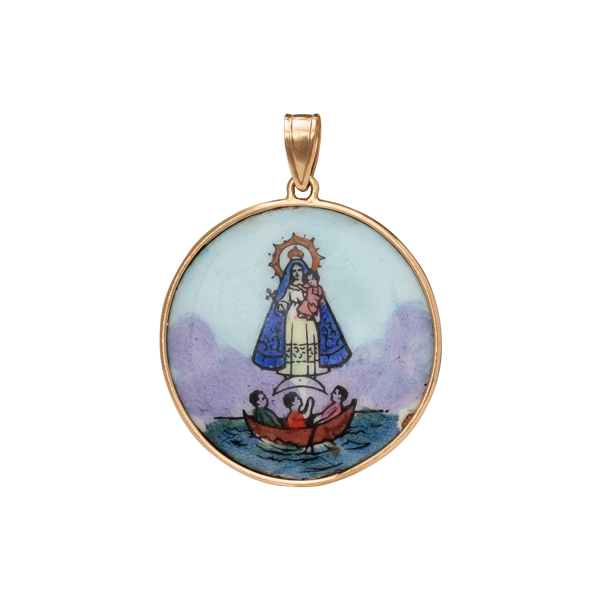 Sacred Heart and Mary Double Sided Portugese Medallion - Antique & Vintage - Charms & Pendants | Broken English Jewelry