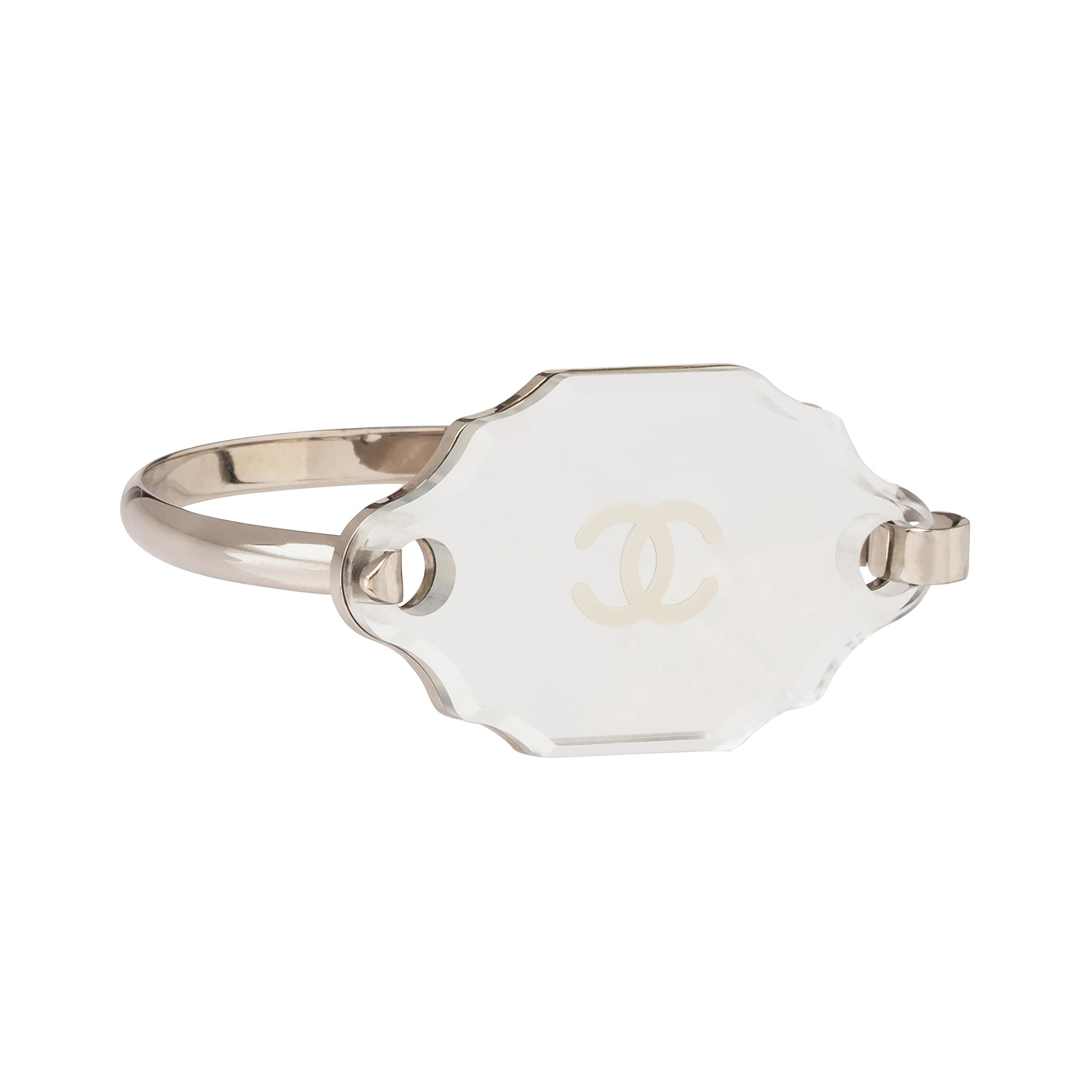 Chanel Oblong Logo Mirror Bracelet - Antique & Vintage - Bracelets | Broken English Jewelry