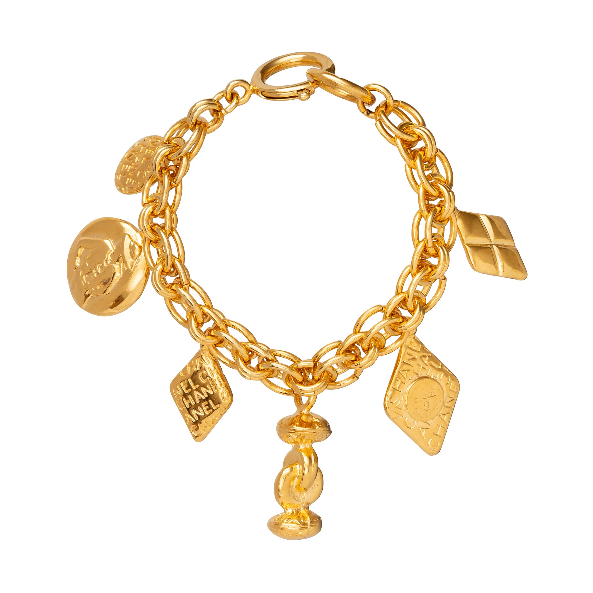 Chanel 6 Iconic Charms Bracelet - Antique & Vintage - Bracelets | Broken English Jewelry