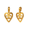 Chanel Heart Logo Doorknocker Earrings - Antique & Vintage - Earrings | Broken English Jewelry