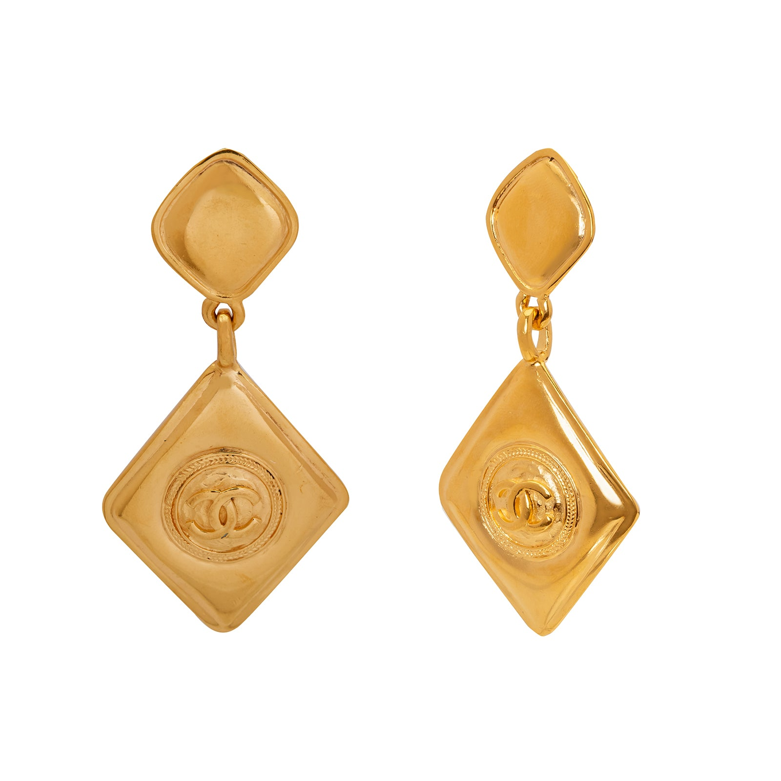 Antique & Vintage Jewelry Chanel Dangle Earrings - Earrings - Broken English Jewelry