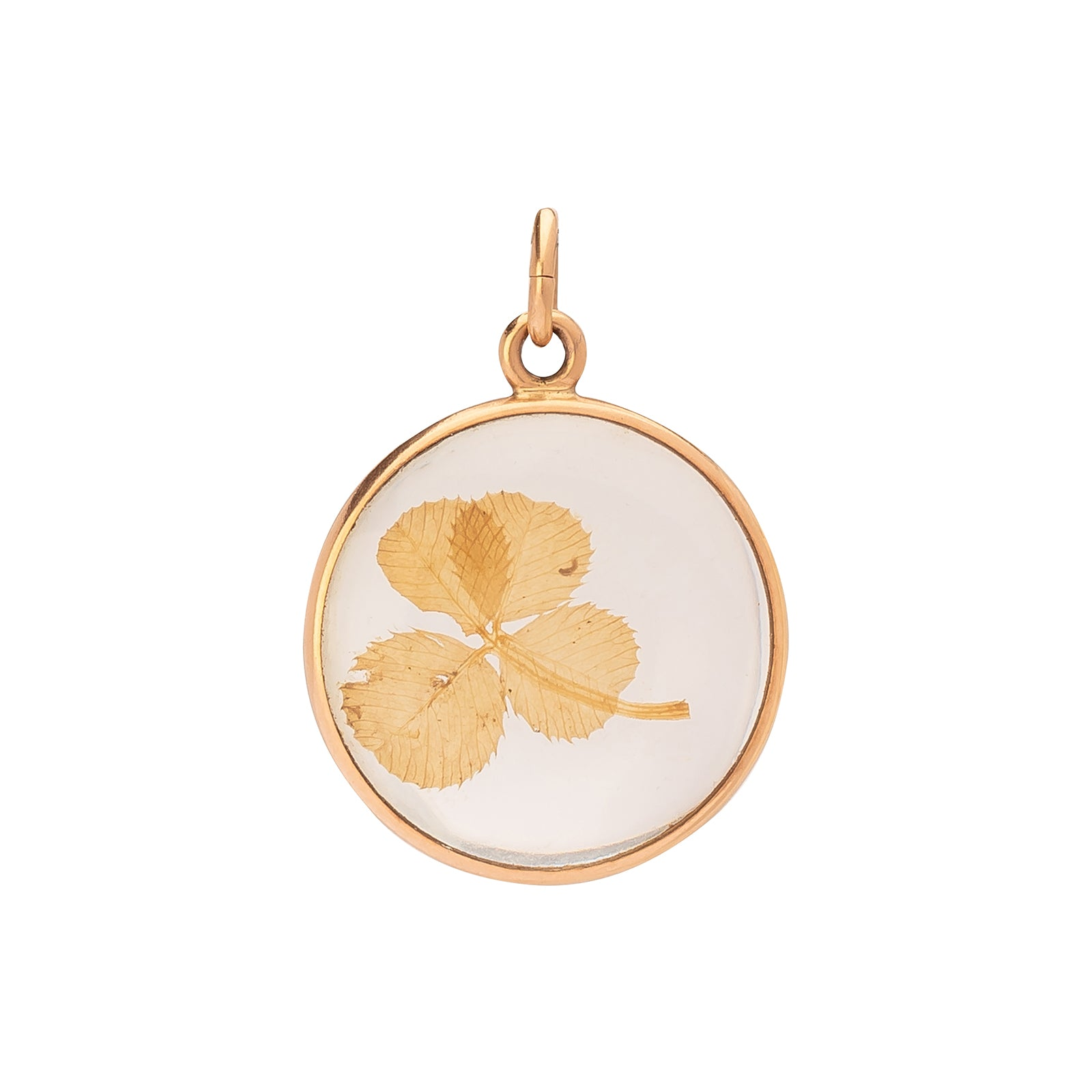 Antique & Vintage Jewelry Four Leaf Clover Bezel Pendant - Charms & Pendants - Broken English Jewelry