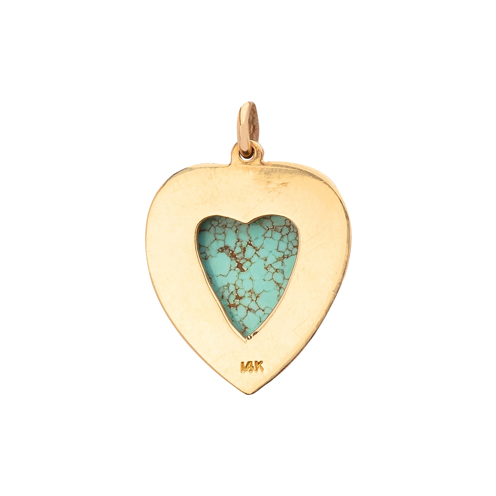 Antique & Vintage Jewelry Turquoise Heart Pendant - Charms & Pendants - Broken English Jewelry
