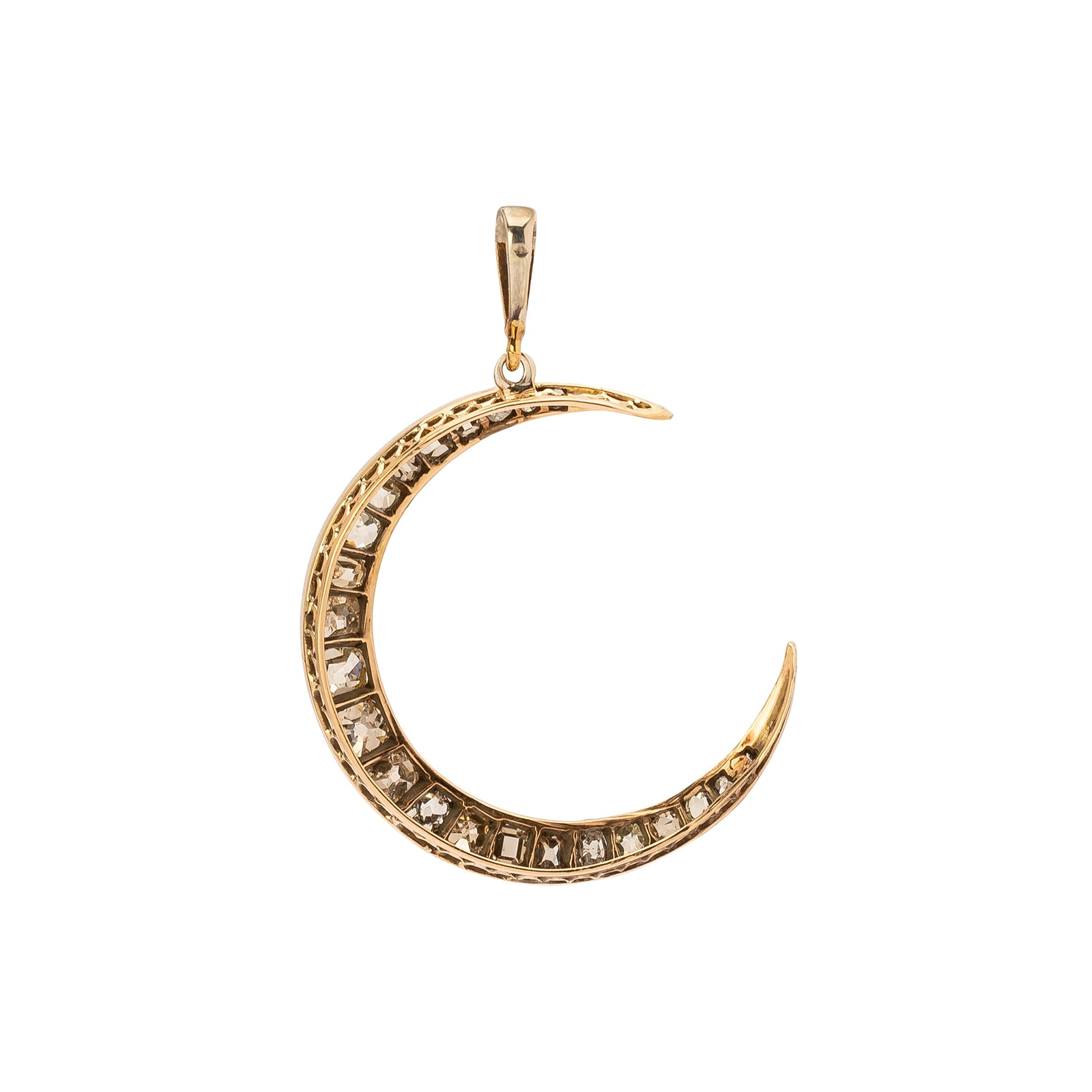 Antique & Vintage Jewelry Crescent Open Moon Pendant - Charms & Pendants - Broken English Jewelry