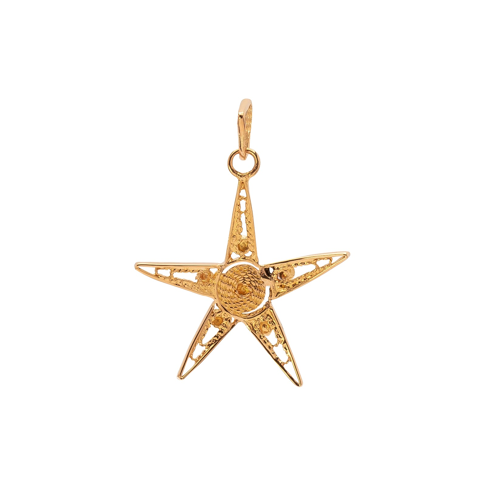 Antique & Vintage Jewelry Wirework Star Charm - Charms & Pendants - Broken English Jewelry