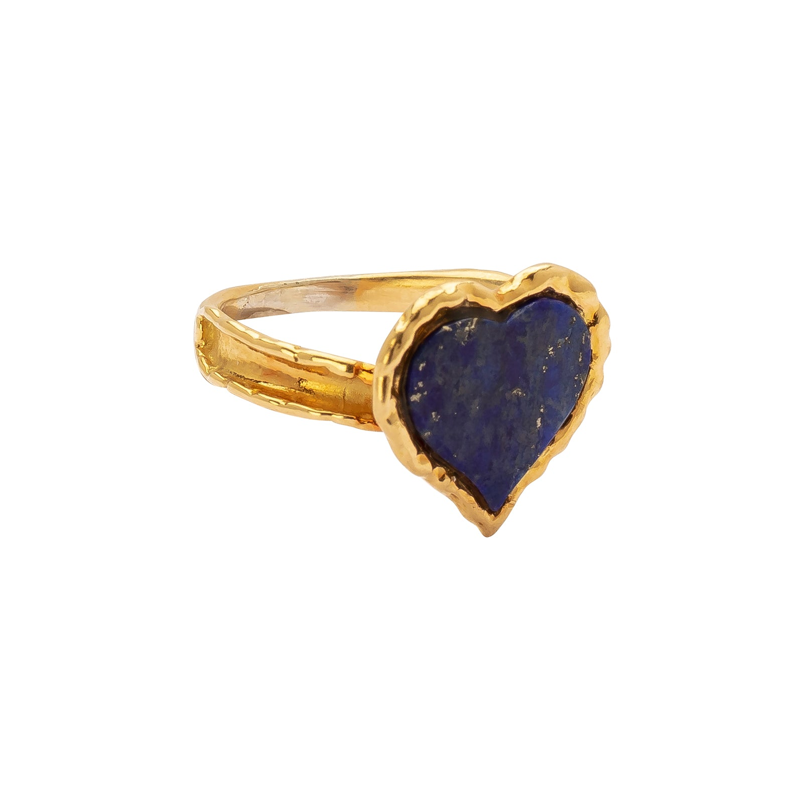 Antique & Vintage Jewelry Heart Shaped Lapis Lazuli Ring - Rings - Broken English Jewelry