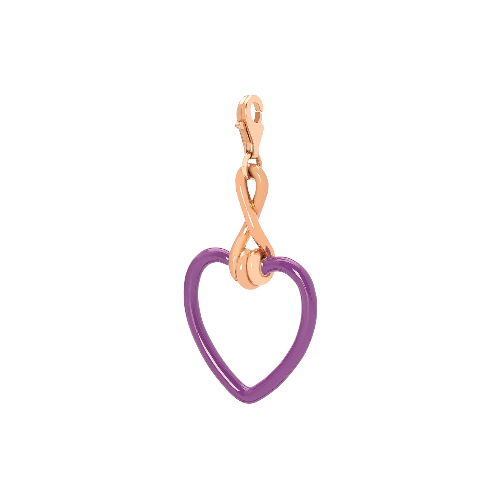 Bea Bongiasca Heart Charm - Purple Enamel - Charms & Pendants - Broken English Jewelry