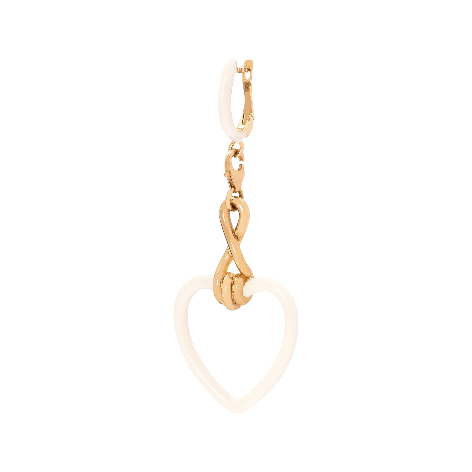 Bea Bongiasca Heart Charm - White Enamel - Charms & Pendants - Broken English Jewelry