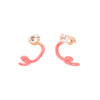 Bea Bongiasca Tendril Crawler Earrings - Pink Enamel - Earrings - Broken English Jewelry