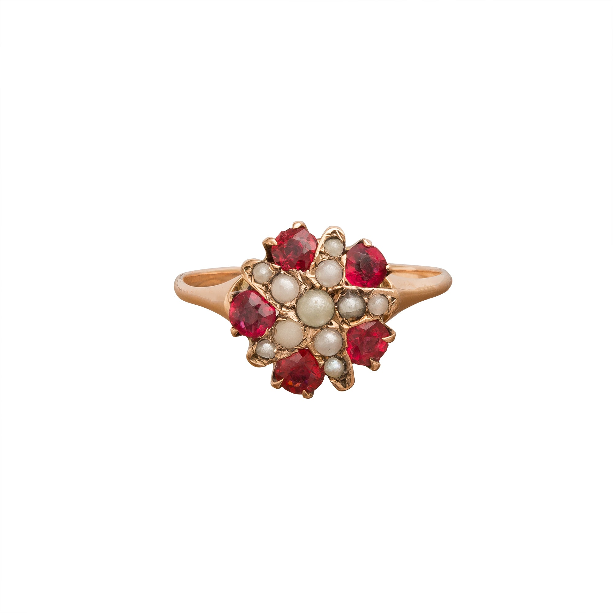 Pearl & Garnet Star Ring by Vintage Jewelry for Broken English Jewelry