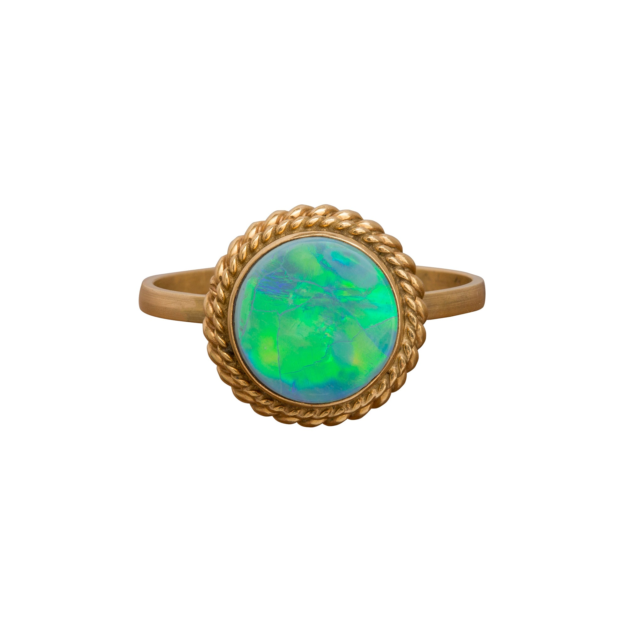 Blue-Green Opal Ring by Vintage Jewelry for Broken English Jewelry