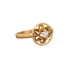 Open Flower Ring by Vintage Jewelry for Broken English Jewelry