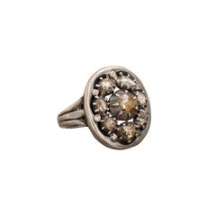 Diamond Cluster Ring by Vintage Jewelry for Broken English Jewelry