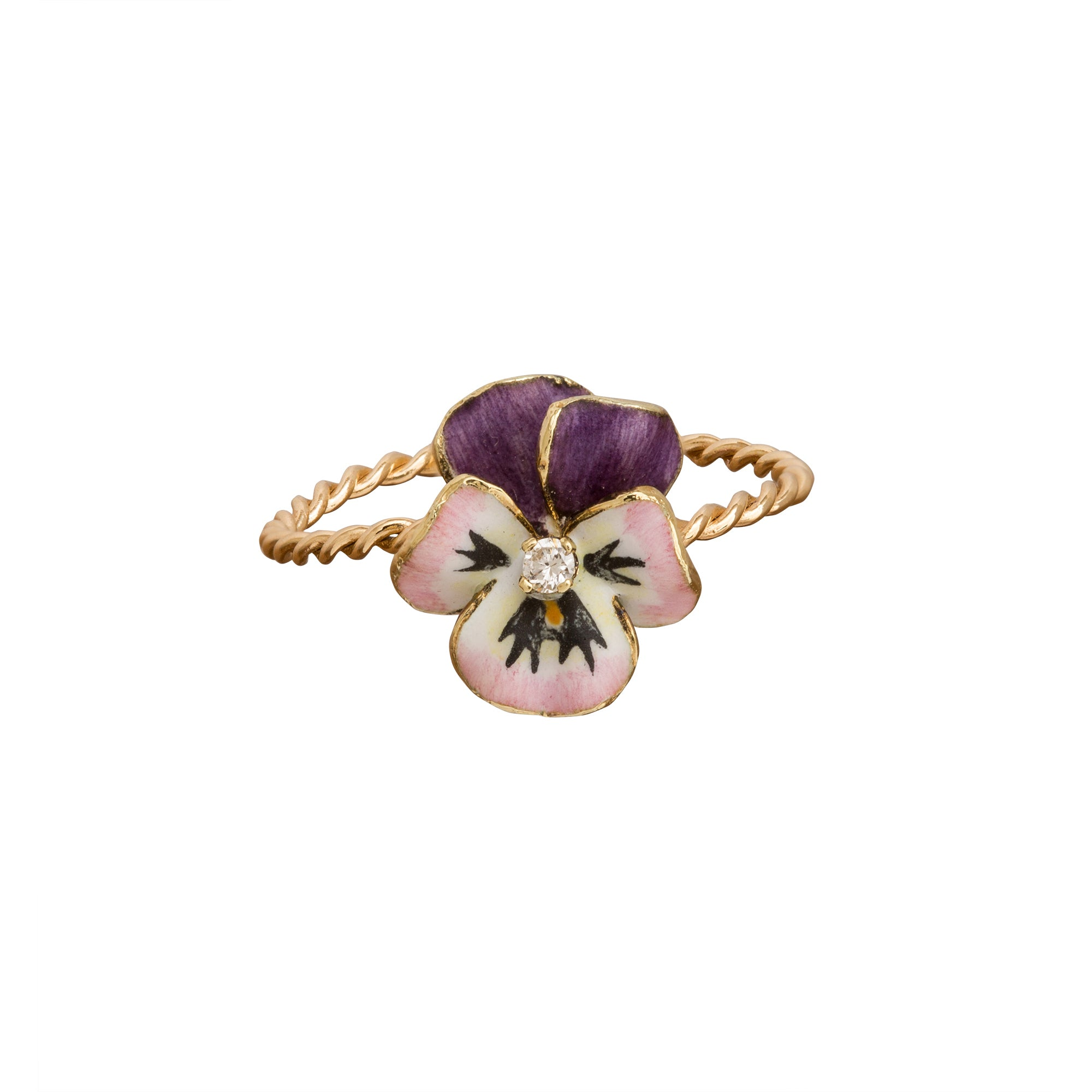 Petite Purple Pansy Ring by Vintage Jewelry for Broken English Jewelry