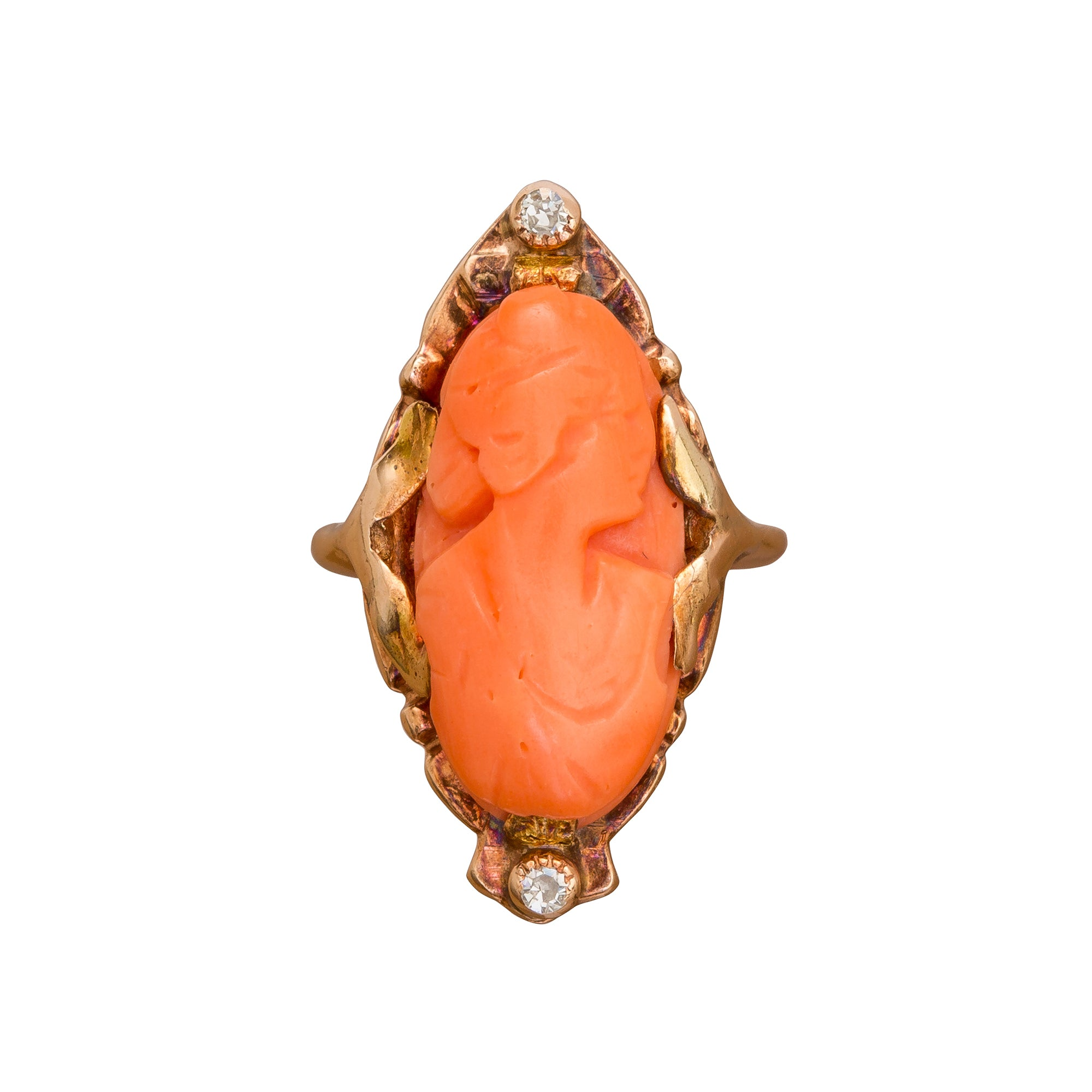 Coral Lady Ring by Vintage Jewelry for Broken English Jewelry
