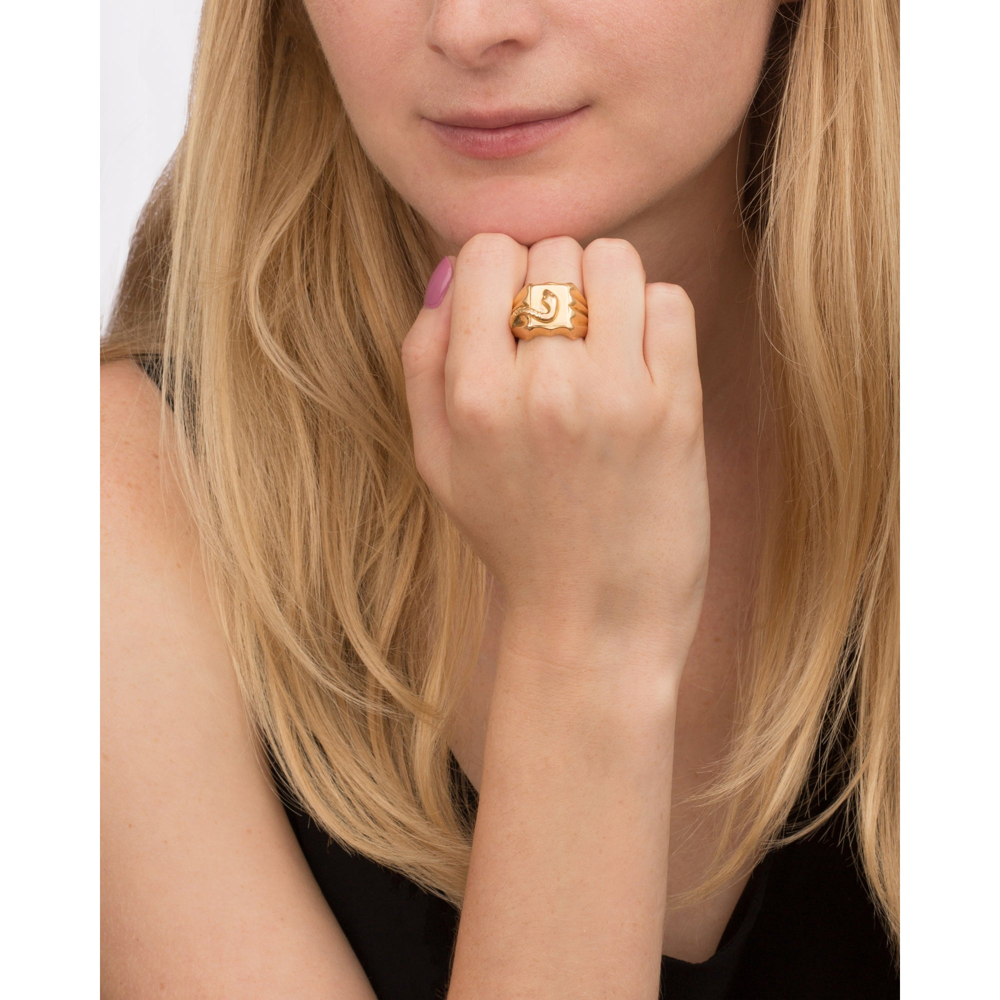 Square Snake Ring by Vintage Jewelry for Broken English Jewelry