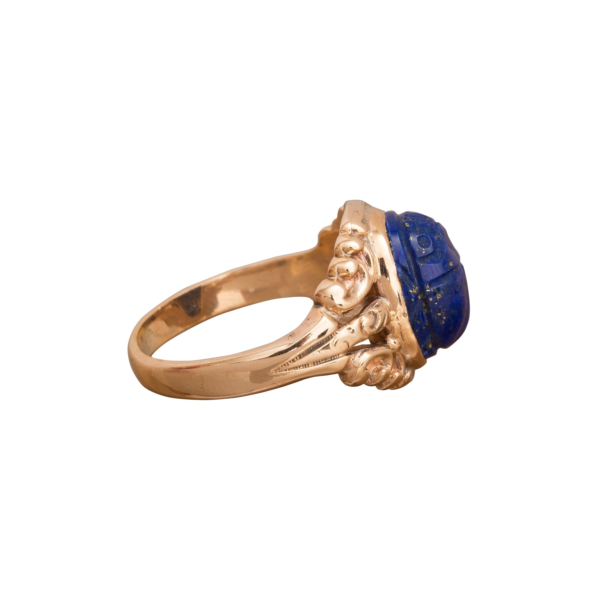 Lapis Scarab Ring by Vintage Jewelry for Broken English Jewelry