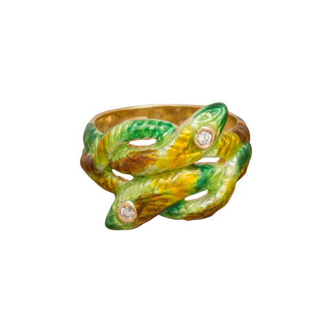 Double Snake Ring by Vintage Jewelry for Broken English Jewelry