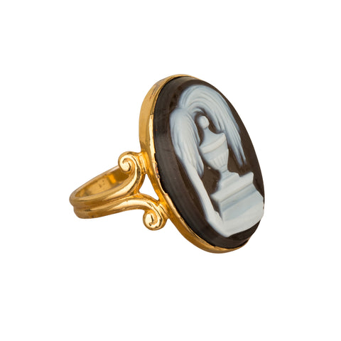Onyx Cameo Ring - Broken English Jewelry