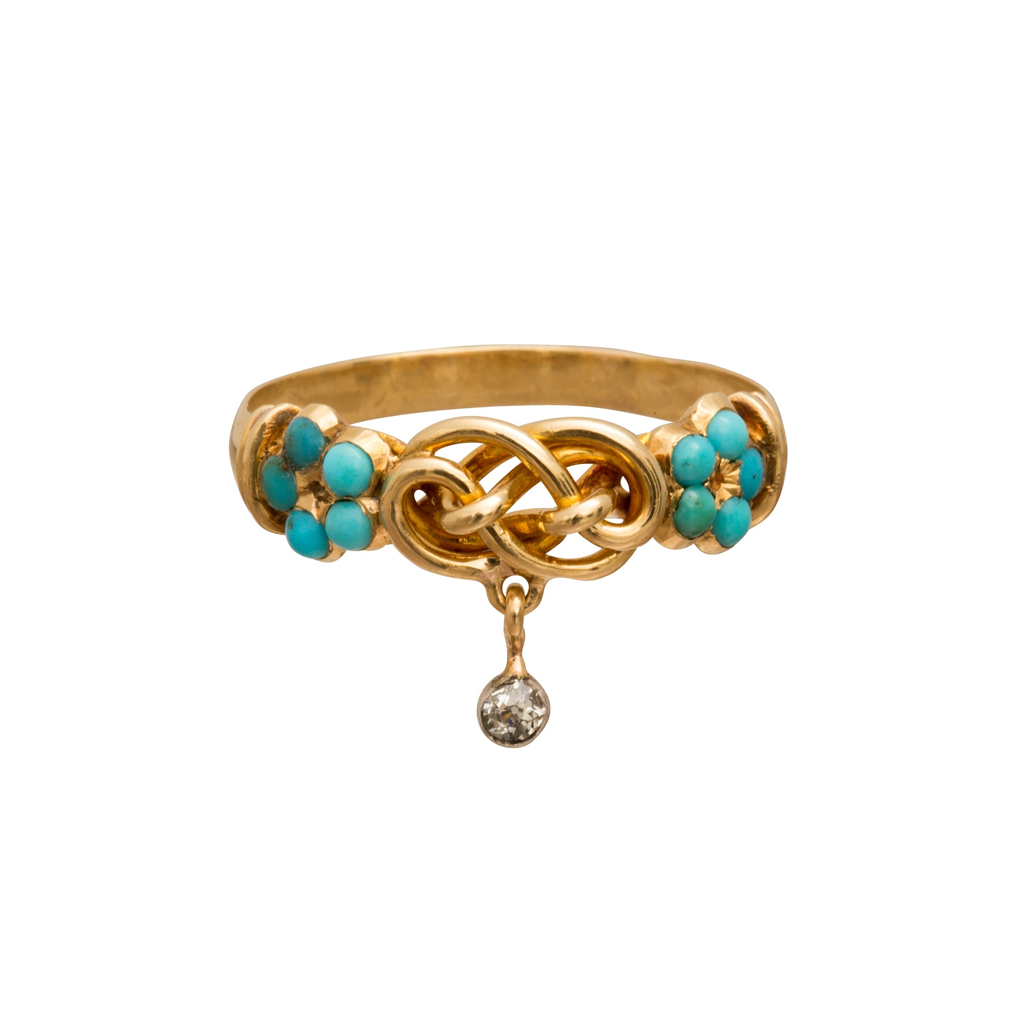 Turquoise & Diamond Ring - Broken English Jewelry