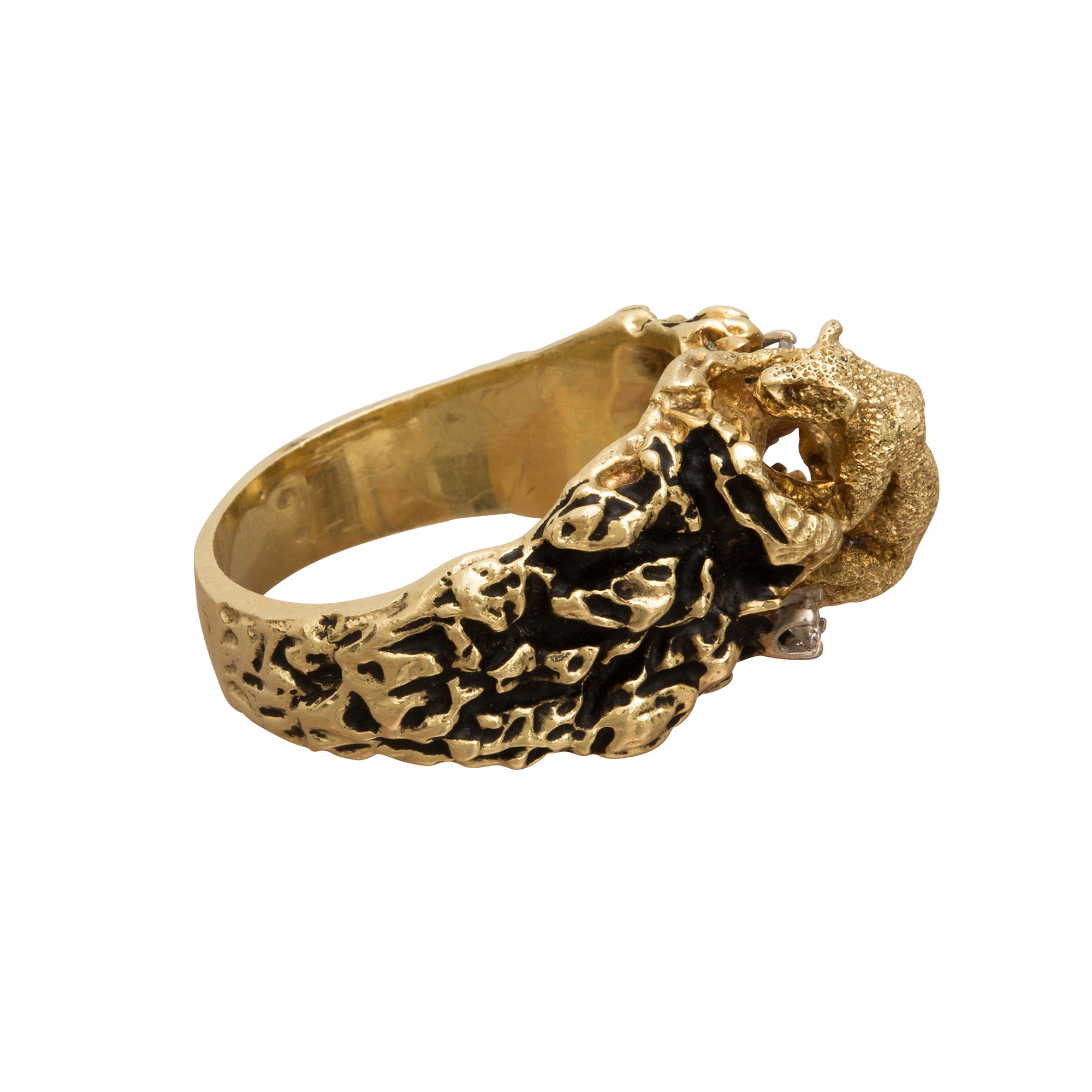Sculpted Panther Ring - Broken English Jewelry