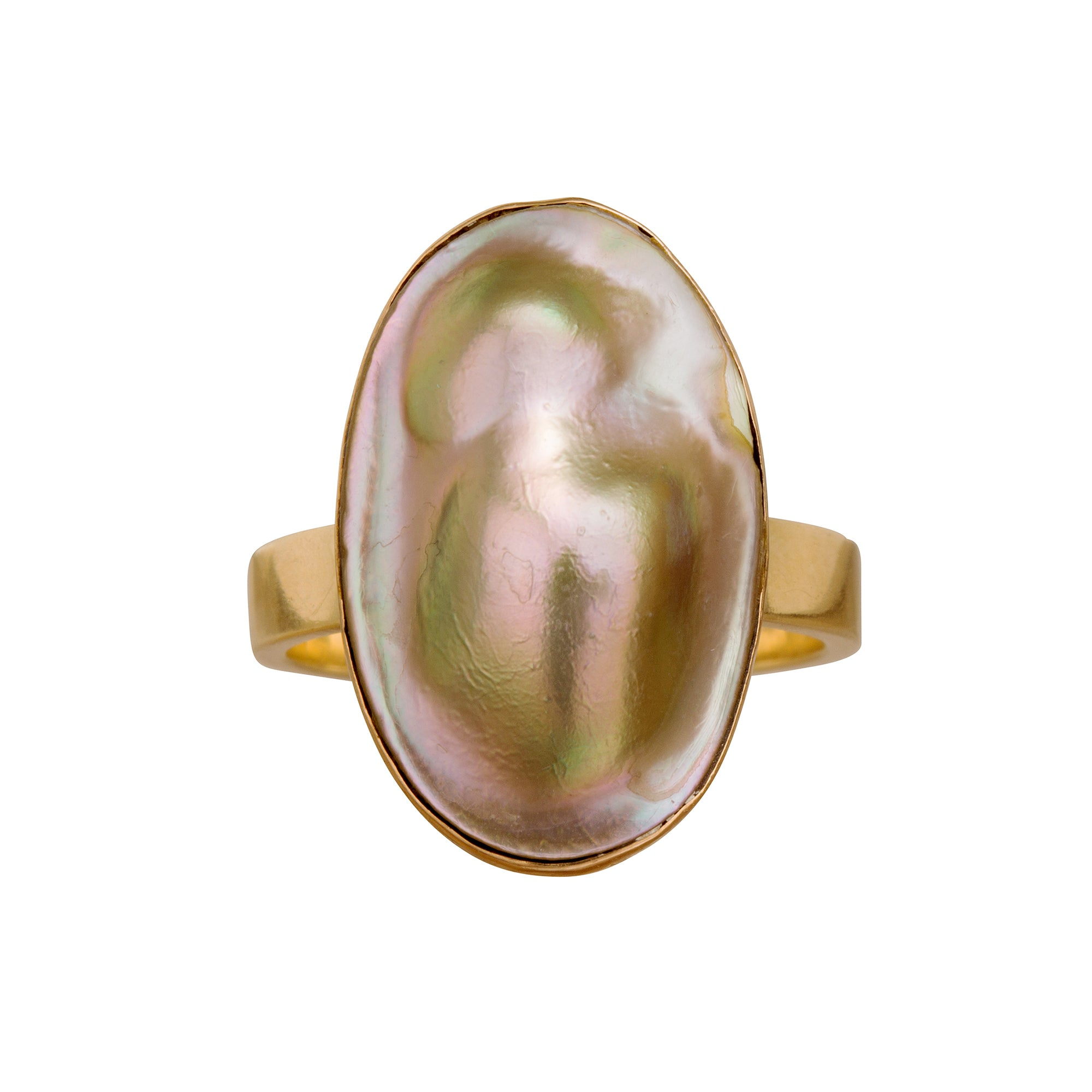 Blister Pearl Ring - Broken English Jewelry