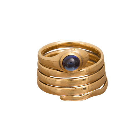 Gold Snake Ring - Broken English Jewelry