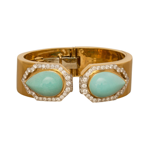 Webb Turquoise Bracelet from Broken English Jewelry
