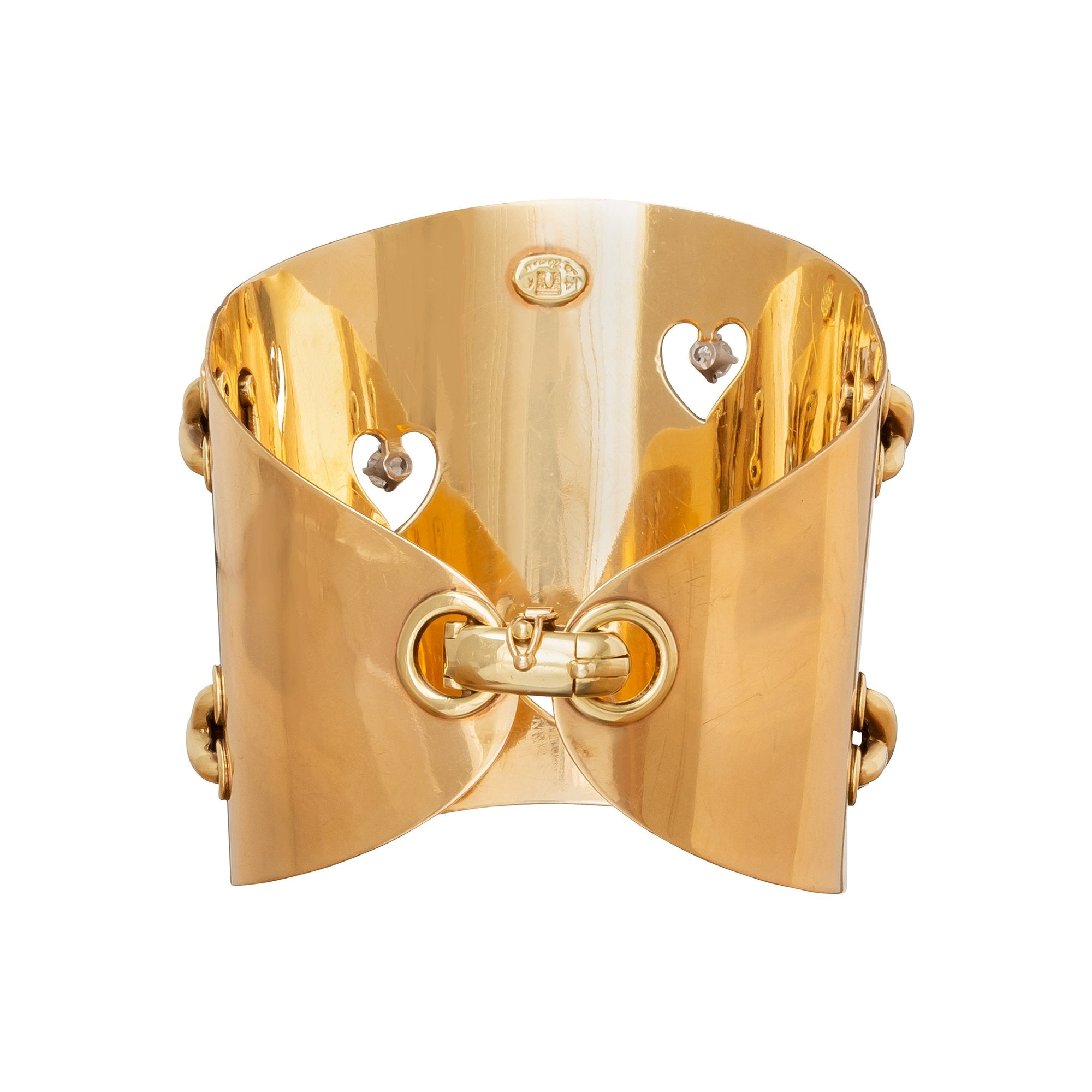 La Triomphe Heart & Stitches Cuff - Antique & Vintage Jewelry - Bracelets | Broken English Jewelry