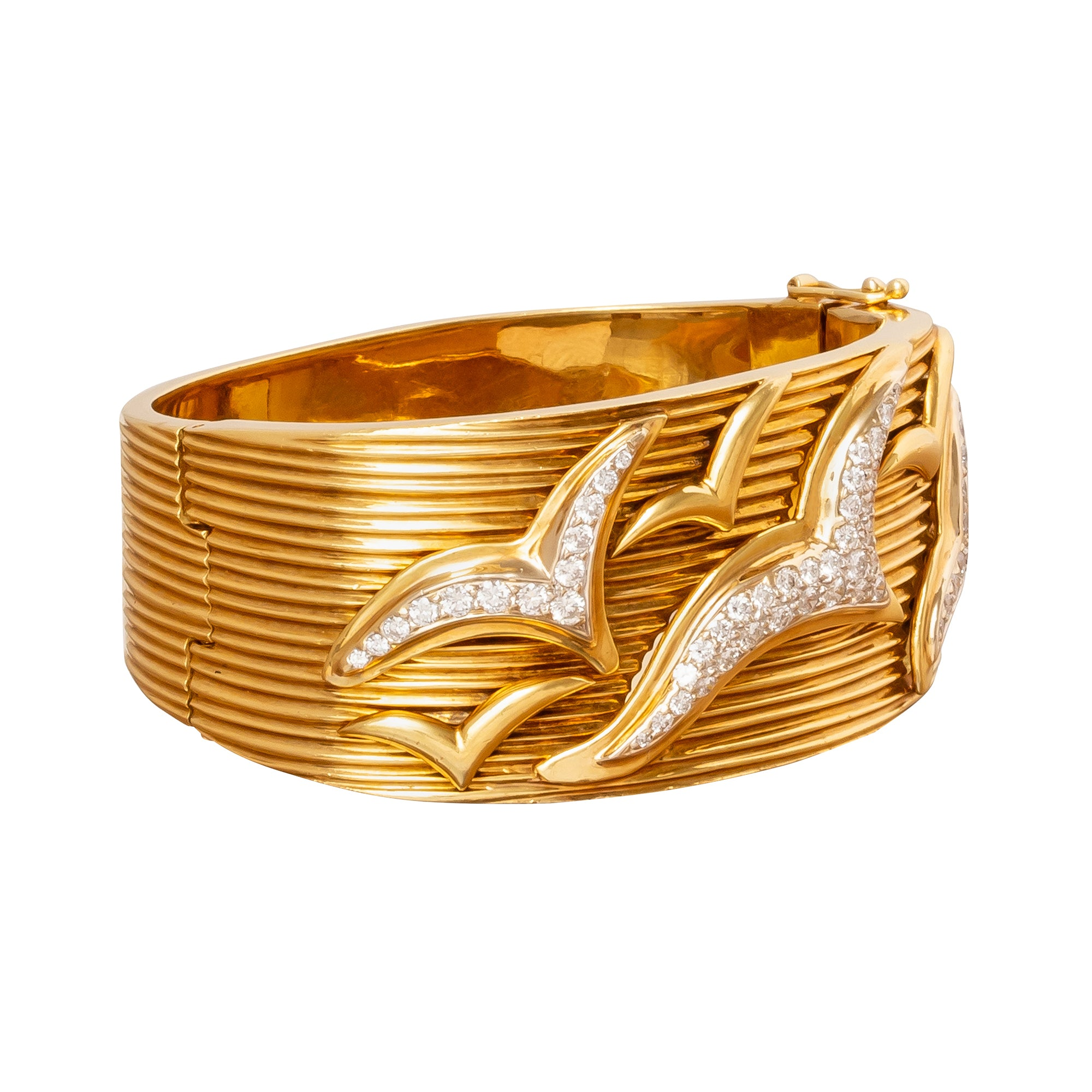 Diamond Seagulls Cuff - Antique & Vintage Jewelry - Bracelets | Broken English Jewelry