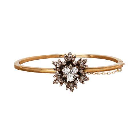 Flower Bangle - Antique & Vintage Jewelry - Bracelets | Broken English Jewelry