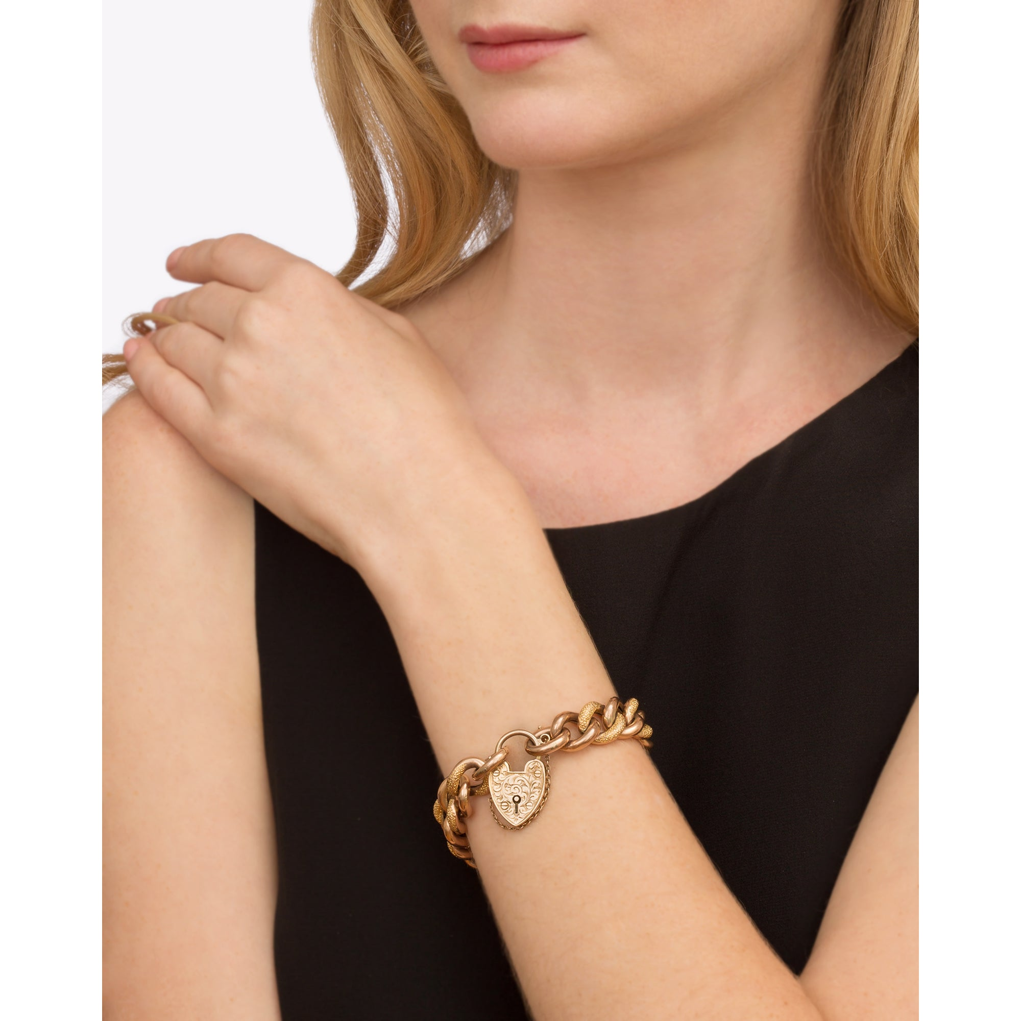 Gold Curb Link Bracelet from Broken English Jewelry