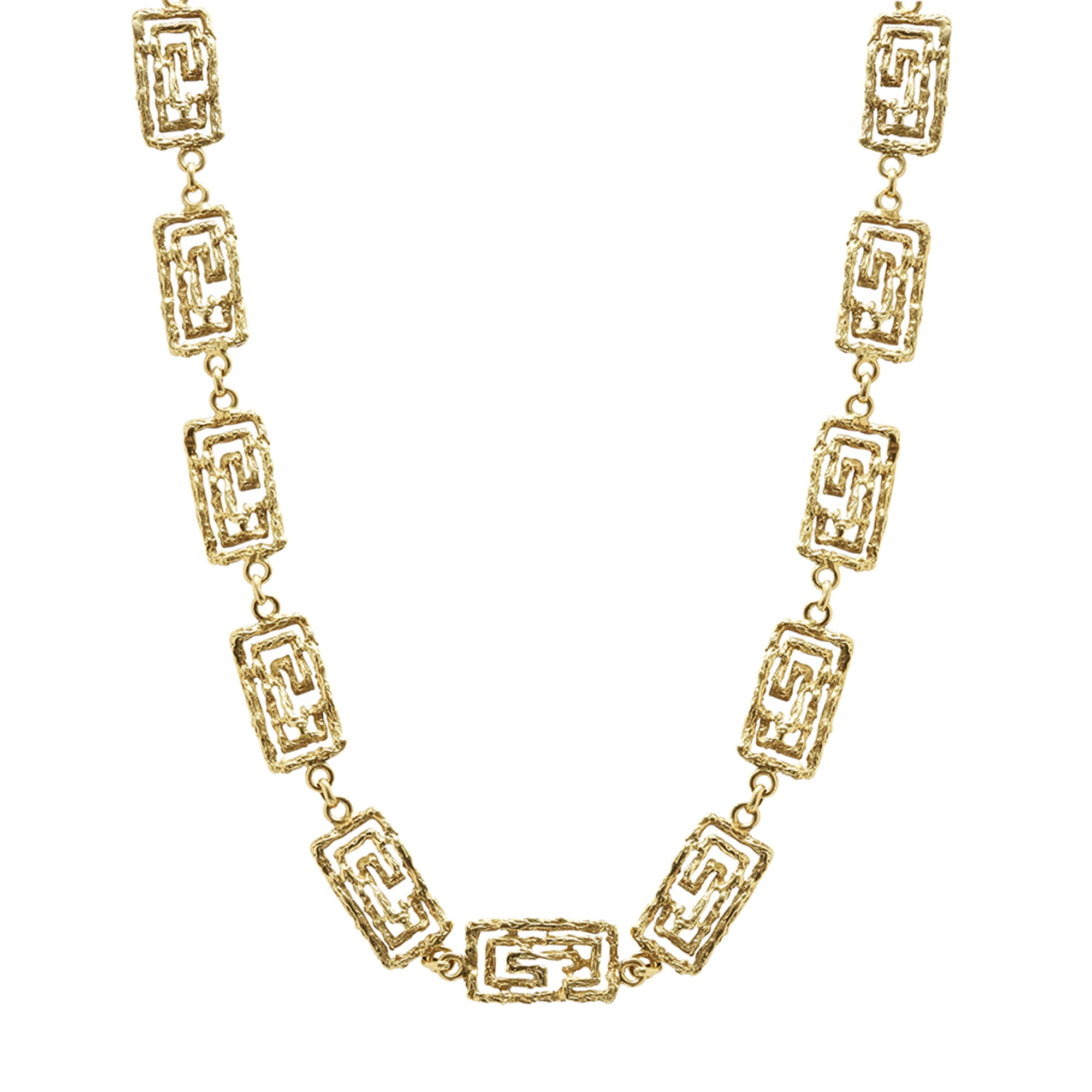 Vintage Gold Tabbah Necklace for Broken English Jewelry