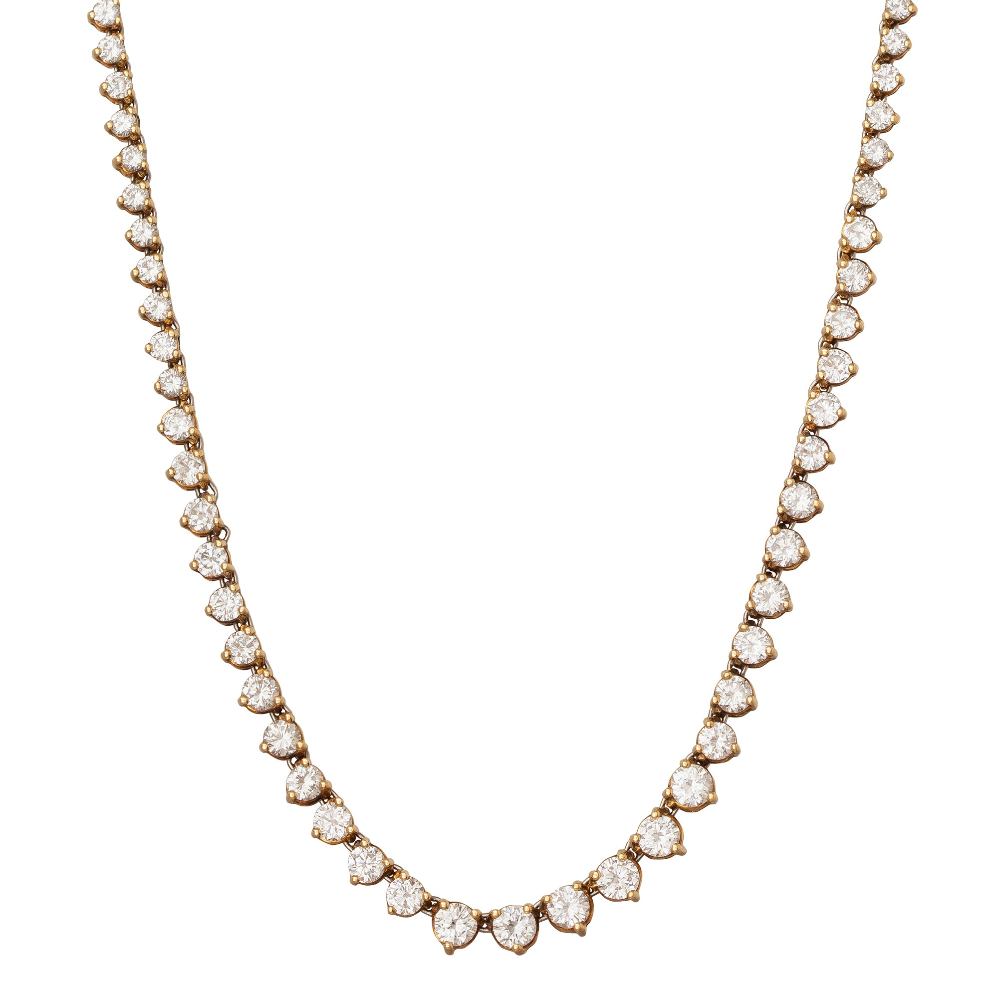 Cartier Diamond Necklace - Antique & Vintage Jewelry - Necklaces | Broken English Jewelry