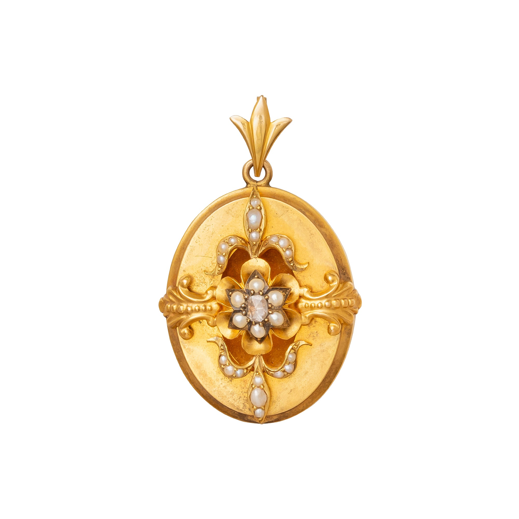 Victorian Diamond & Pearl Pendant - Antique & Vintage Jewelry - Charms & Pendants | Broken English Jewelry