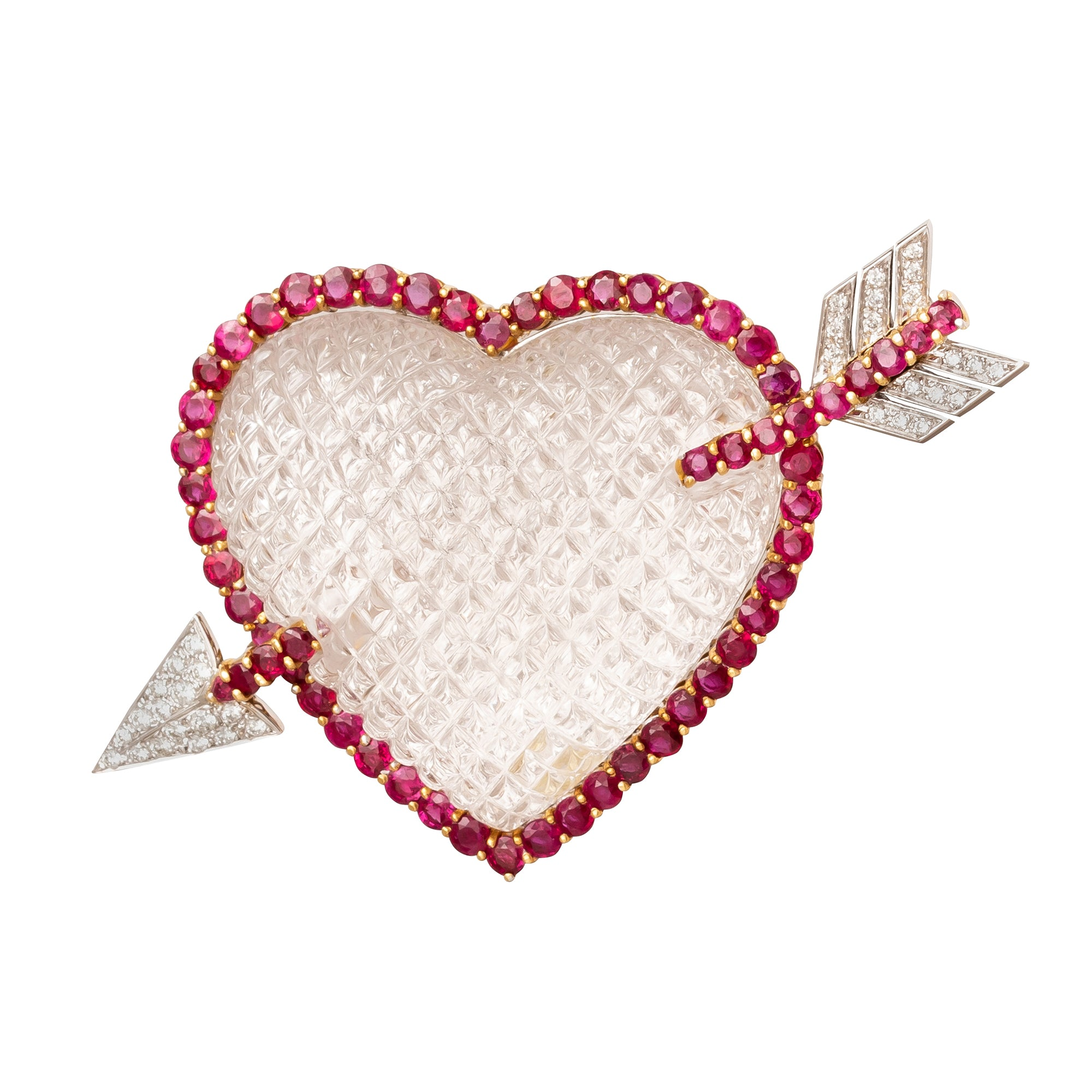Sabbadini Heart Brooch - Antique & Vintage Jewelry - Charms & Pendants | Broken English Jewelry
